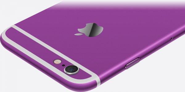 Apple выпустит iPhone в фиолетовом и бирюзовом цветах