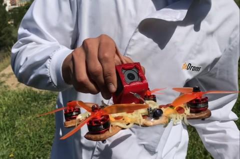 Запустил и поел: парень приготовил дрон из пиццы