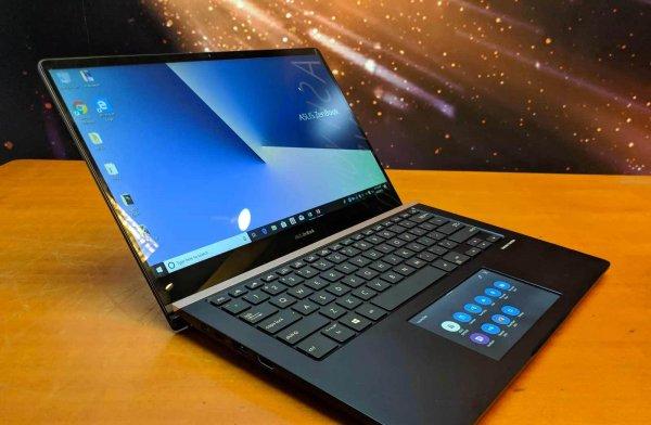 Asus представила ноутбук с сенсорным экраном вместо тачпада