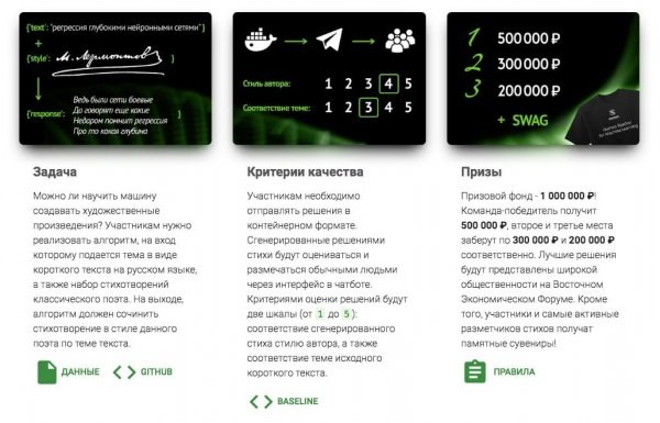 «Сбербанк» подарит миллион рублей за разработку умеющего сочинять стихи ИИ