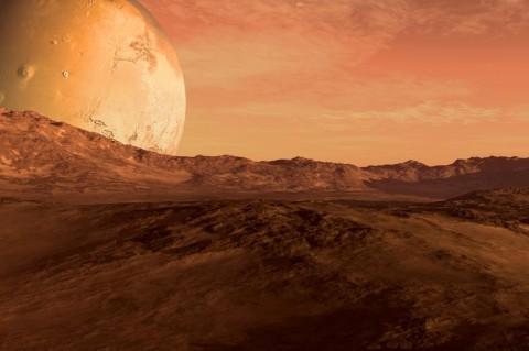 Астрономы нашли на Марсе подземное озеро с соленой водой