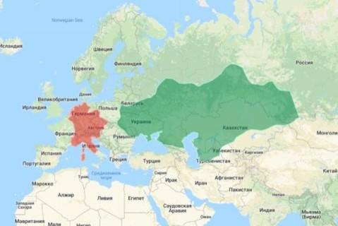 На сайте Гарварда появилась карта с отметками территорий древних цивилизаций