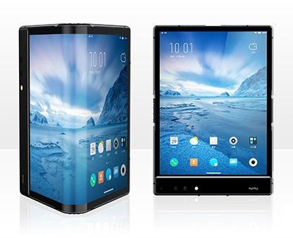 В Китае презентовали первый гибкий смартфон в мире