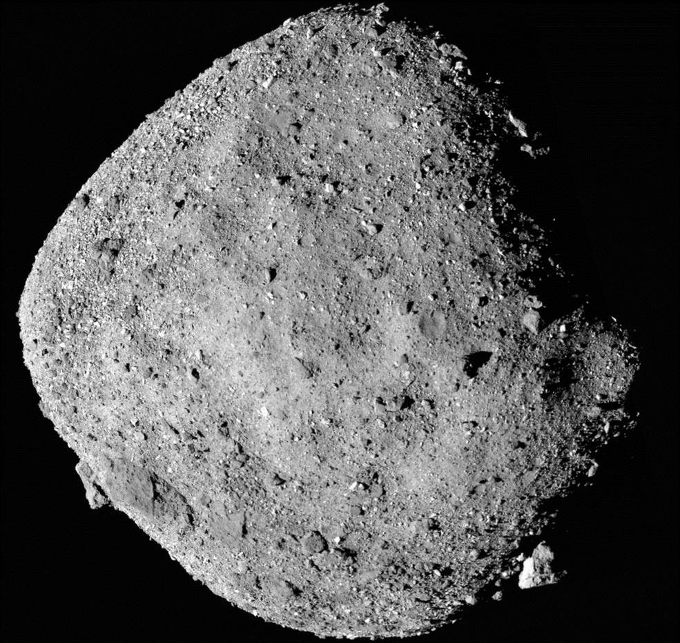 Космический аппарат OSIRIS-REx обнаружил на астероиде остатки воды