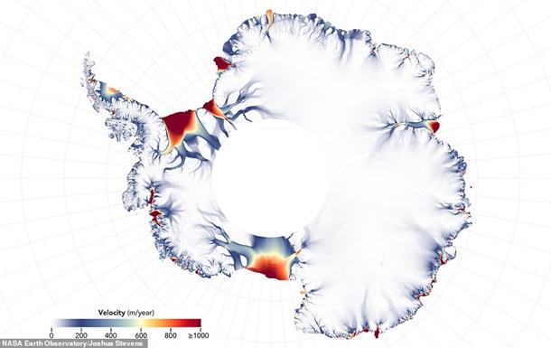 Обнародована карта тающих ледников Антарктиды