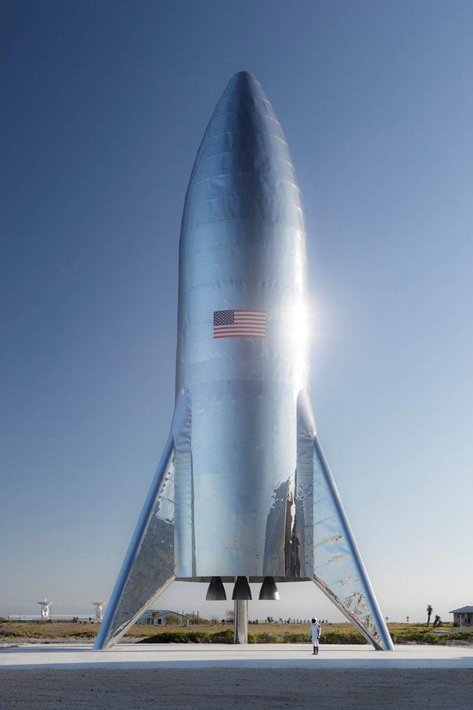 Илон Маск опубликовал фото нового космического корабля Starship
