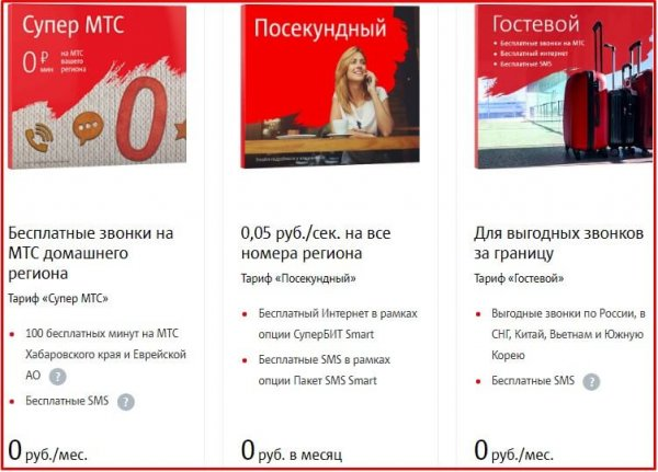 Тарифы МТС без абонентской платы и без интернета - подробный обзор