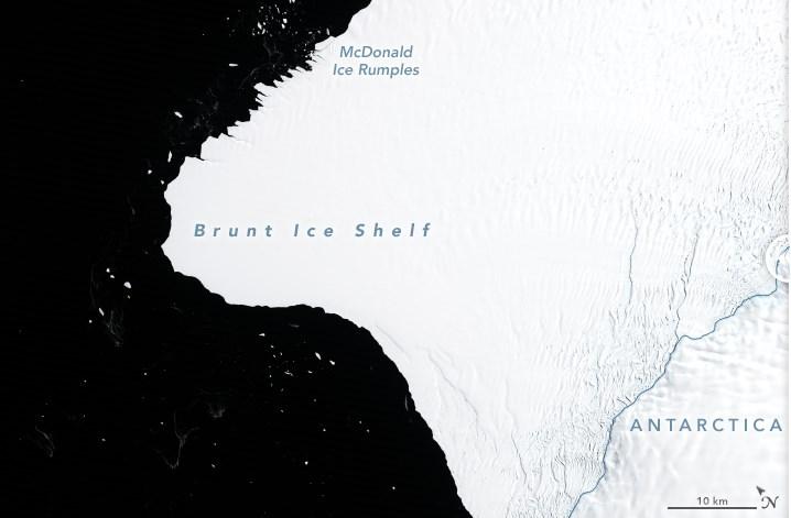 В Антарктике может образоваться айсберг размером с два Нью-Йорка