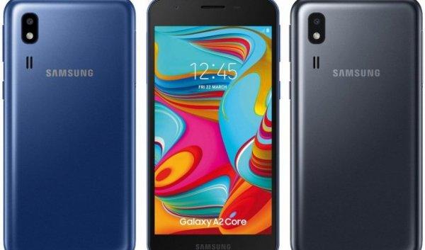 Произошла утечка: в сеть слили новые изображения Samsung Galaxy A2 Core