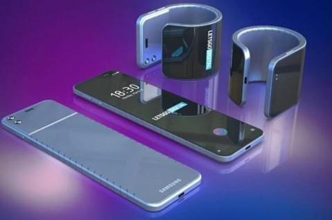 Samsung готовится представить гибкий смартфон-браслет
