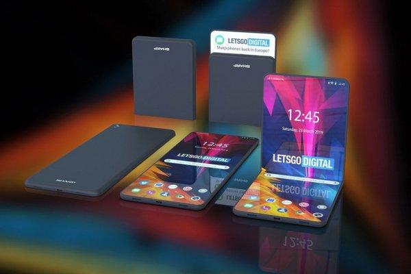 Новый гибкий смартфон от Sharp будет складываться в двух местах