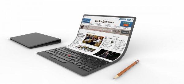 Производство ноутбуков Intel с гибким экраном может начаться в 2021 году