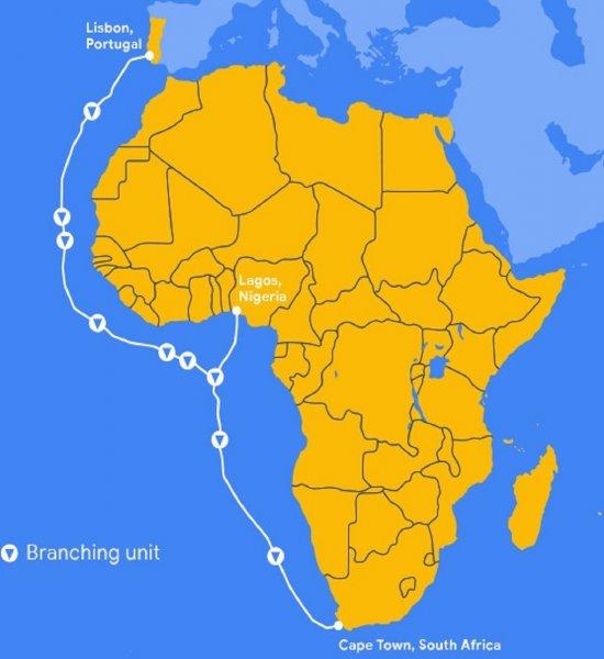 Акулам на смех: Google подсоединит подводным кабелем Африку к Европе