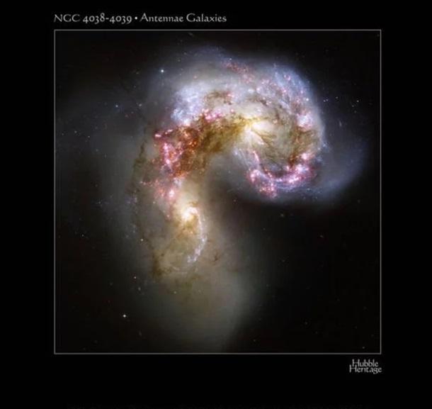 Hubble сфотографировал две галактики, разрывающие друг друга