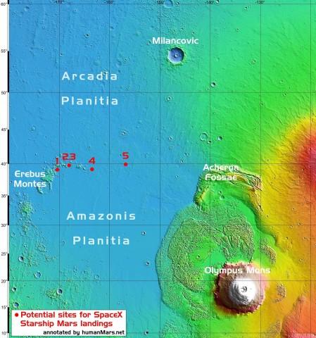 Где будут жить люди на Марсе: SpaceX показала размещение будущих колоний