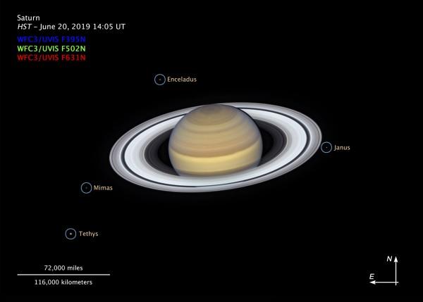 Телескоп Hubble снял новое головокружительное фото Сатурна