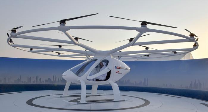 В Германии успешно прошли испытания двухместного воздушного такси