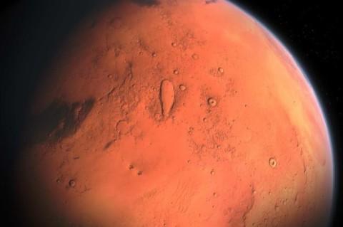 NASA запечатлило гигантскую ледяную лавину на Марсе