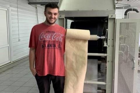 Украинский студент запустил первое в мире производство бумаги из опалых листьев