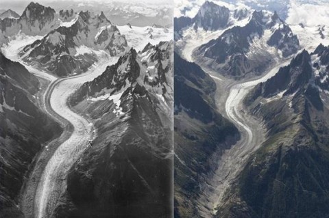 Ученые показали таяние ледников на фото с разницей в сто лет