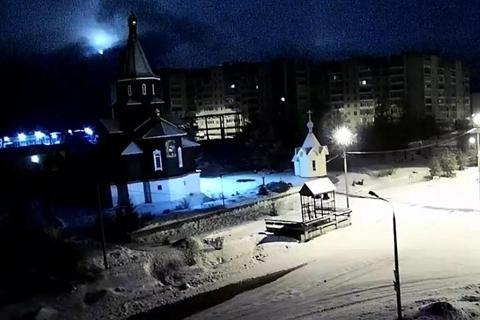 Камеры наблюдения сняли упавший в России метеорит