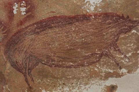 В Индонезии обнаружили древнейший наскальный рисунок