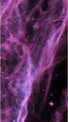 Ученые показали завораживающие снимки туманности Вуаль