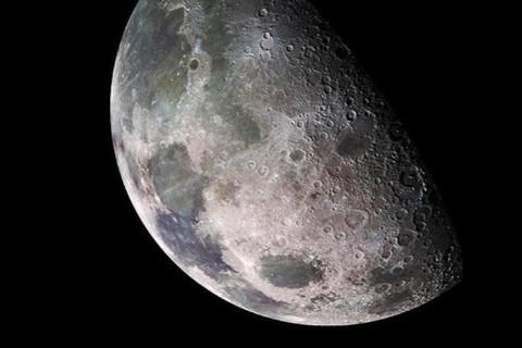Спутник запечатлел лунную тень во время затмения