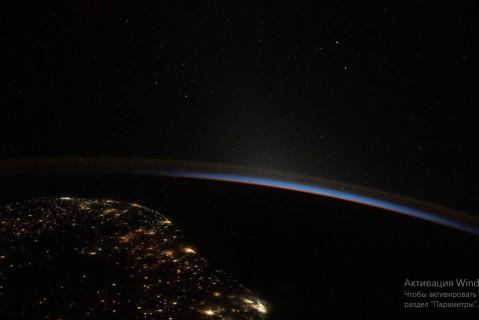 В NASA опубликовали снимок где ночь переходит в день