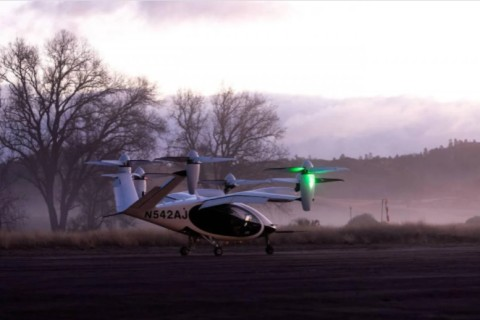 NASA тестируют модель воздушного такси в Калифорнии