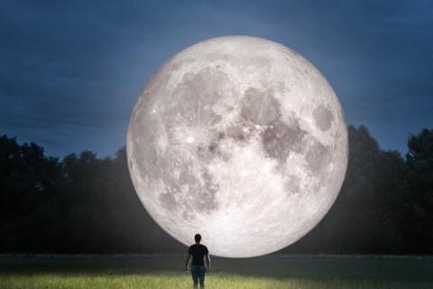 Если бы мы жили на Луне: ученый показал, как выглядит Земля с поверхности спутника