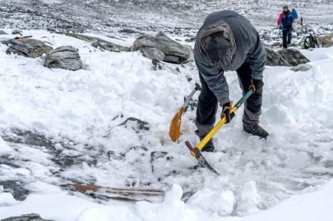 В Норвегии на горе нашли самые древние лыжи